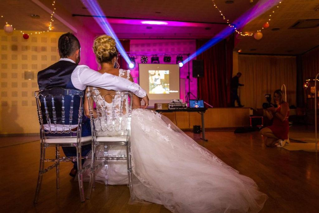vidéo des mariés